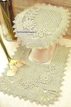 ### Dê um tok de crochê ###: Conjunto de Banheiro