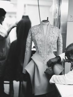 Inside the atelier for Christian Dior haute couture f/w 2009
