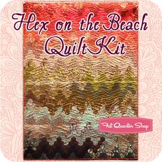 Hex on the Beach Quilt Kit Featuring Salt Water by Tula Pink
