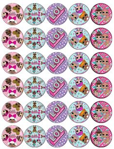 30 x Lol Surprise Dolls Cupcake Toppers Edible Wafer Paper Fairy Cake Toppers Candy Theme Birthday Party, Doll Birthday Cake, Lol Doll Cake, Pinterest Diy Crafts, Edible Cupcake Toppers, Paper Dolls Printable, Animal Crafts For Kids, Doll Party, Balloon Decorations Party