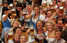 Oktoberfest festival is held annually in Munich, Bavaria, Germany. And this year the mayor of Munich Christian Ude has tapped the first keg to kick off the 178th traditional German folk festival.    A waitress carries the traditional 1-litre beer mugs at the opening of the Munich Oktoberfest Sep