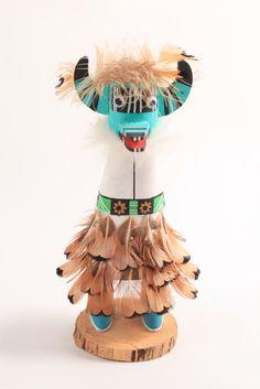 Signed VTG Native American Cumulus Cloud Girl Hopi Kachina Doll Tukwinong Mana