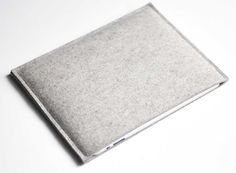 Simple Ipad Sleeve – Grey Wool Felt from byrd & belle — Bags -- Better Living Through Design