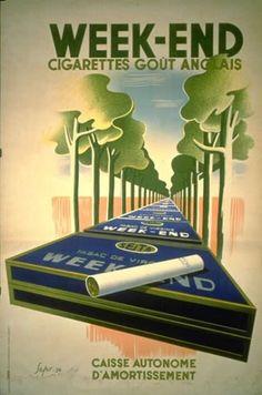 Week-End - Cigarettes goût anglais - 1936 - (Sepo) -