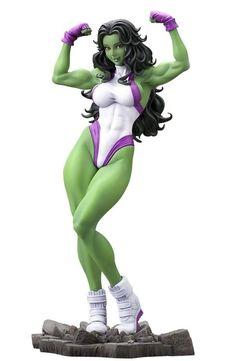 "Kotobukiya She-Hulk ""Marvel Comics"" - Bishoujo Statue - Kotobukiya Action Figure Kotobukiya's lineup of Bishoujo statues based on characters from Marvel Comics Hulk Marvel, Hulk 1, Ms Marvel, Marvel Art, Captain Marvel, Comic Book Heroes, Comic Books Art, Comic Art, Bd Comics"