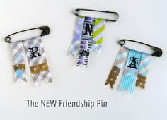 zakka life: Kid Craft: Washi Tape Friendship Pins