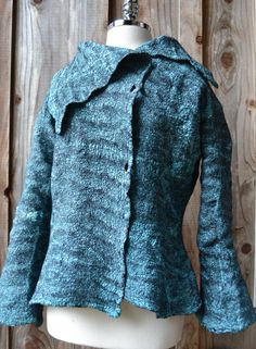 silk and wool felted coat, made by Tash Wesp