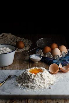 Ingredientes para hacer pasta fresca by Raquel Carmona