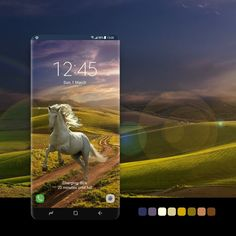Samsung Galaxy Wallpaper, Running Horses, Samsung Device, Galaxy Note, Countryside, Evening Sunset, Smartphone, Android, Wallpapers