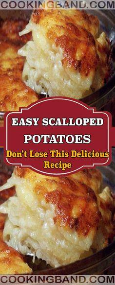 EASY SCALLOPED POTATOES Related posts: Best Ever Cheesy Scalloped Potatoes Recipe – Easy, Homemade & Delicious Scalloped Potatoes Cheesy Scalloped Potatoes and Ham ham and cheese scalloped potatoes in a slow cooker Homemade Scalloped Potatoes, Scalloped Potato Recipes, Scallop Recipes, Scalloped Potatoes Au Gratin, Scalloped Potato Casserole, Vegetable Dishes, Vegetable Recipes, Scolloped Potatoes, Crock Pot Potatoes