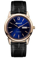 Ingersoll Men's Automatic Stainless Steel and Leather Casual Watch, Color:Black (Model: Mens Dress Watches, Mens Watches Leather, Casual Watches, Leather Men, Watches For Men, Men's Watches, Luxury Watches, Black Leather, Ingersoll Watches