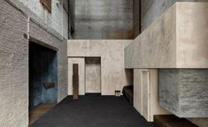 Still Room by Studio Corkinho in Antwerp is a sanctuary of silence. We talk to Cedric Etienne about the design and his travel inspirations behind the space Concrete Architecture, School Architecture, Architecture Design, Le Corbusier, Andrea Palladio, Barbican, Exhibition, Sierra, Brutalist