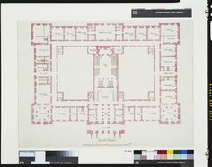 Sir William Chambers - Two plans of Richmond Palace Richmond Palace, The Royal Collection, Palaces, Architecture Design, Buildings, Floor Plans, England, Lost, How To Plan