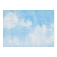 Watercolor clouds and sky background (c) and (r) Bigstock(r) - All Rights Reserved. | Create your own watercolor merchandise on Zazzle. Try adding your own text to create a one-of-a-kind product! It's easy to personalize your own item, has no minimum orders & is custom produced when you order!