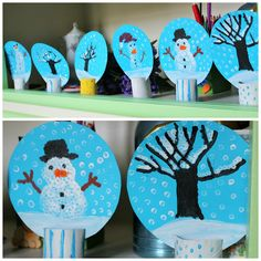 Christmas Crafts For Toddlers, Toddler Christmas, Christmas Activities, Xmas Crafts, Diy And Crafts, Christmas Gifts, Arts And Crafts, Winter Painting, Winter Art
