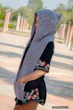 Chloe hooded scarf by jane