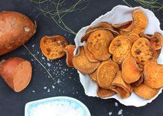 Gör egna sötpotatischips i micron –det tar bara fem minuter!