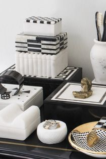 Op Art Box #kellywearstler #desk #marble