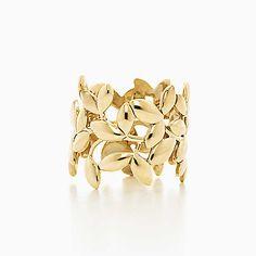 Anneau en or 18 carats, Feuille d'olivier par Paloma Picasso®. Tiffany