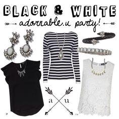 Black white party adornable.u #getadorned