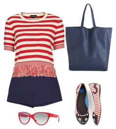 """""""Striped Top"""" by sep120 ❤ liked on Polyvore featuring Topshop, T.U.K. and DKNY"""