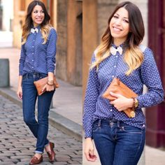 Pose by fadelamecheri Jonak Loafers, Gerard Darel Bag, Maison Scotch Shirt, and Levi's Jeans from April 01, 2013 | Pose