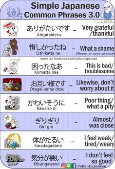Simple japanese phrases