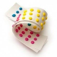 Necco candy buttons at Hometown Favorites. This old fashioned candy is a treat for anyone. Classic sugar treat in three different flavors and colors on paper. A great sweet. My Childhood Memories, Childhood Toys, Sweet Memories, Candy Buttons, Dots Candy, Lalaloopsy, 1980s Candy, Necco Candy, Nostalgic Candy