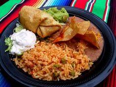 "Chimichanga at El Charro in Tuscon, AZ.  Where it was ""invented"""