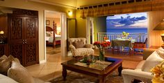 Honeymooners, Peter & Danielle are checking into their room right now at Sandals La Toc in St. Lucia!  Butler digs for my VIP clients, as always!