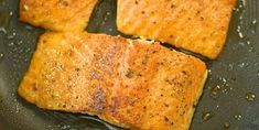 This Cajun Salmon recipe is an ultra-easy and flavorful dinner to make during your busy weeknights. Healthy Salmon Recipes, Seafood Recipes, Vegan Recipes, Cajun Salmon, Pan Fried Salmon, Cabbage And Smoked Sausage, Salmon Recipe Videos, Vegan Breakfast Options, Homemade Hamburger Helper