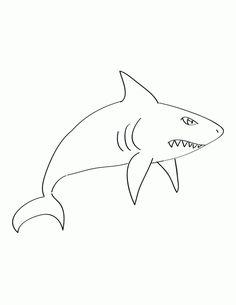 blue shark free printable coloring page animal | mosaics ... - Coloring Pages Sharks Printable