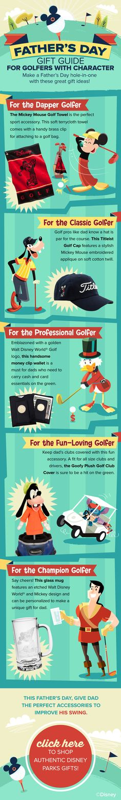 Father's Day Gift Guide for Golfers with character! #WaltDisneyWorld #Disney