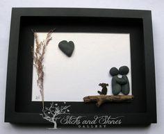 Pebble Art Couple Personalized for Couple Unique by SticksnStone
