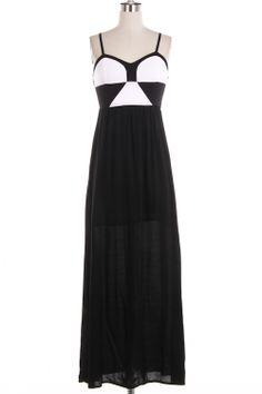 Black and White Maxi Dress, Fashion, Style, Sale