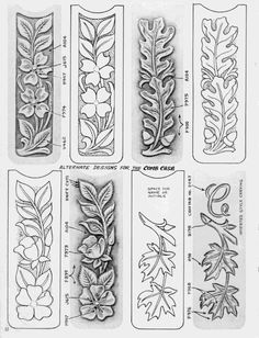 ru / Photo # 36 - Shtolman + sketches + for + carving + stamping + leather - vihrova Leather Carving, Leather Art, Custom Leather, Leather Tooling, Leather Jewelry, Handmade Leather, Wood Carving Designs, Wood Carving Patterns, Wood Carving Art