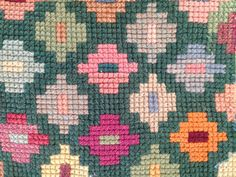 Simple geometric tapestry design from one of my Gran's cushion covers.