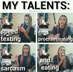 this is me…though I still am working on the sarcasm--apparently I'm too nice for my own good according to my friends :P    lol jk