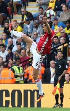 Zlatan Ibrahimovic of Manchester United in action during the Premier League…