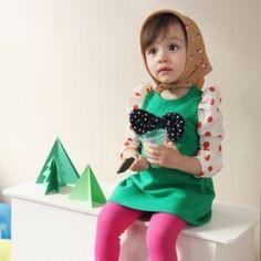 Vintage Inspired Girls Clothes Green Vintage Inspired Dress For Girls | Vindie Baby