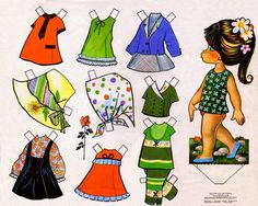 Kathleen Taylor's Dakota Dreams: Thursday Tab- Victoria, Spanish Dolls from 1979 Holly Hobbie, Paper Toys, Paper Crafts, Flamenco Dancers, Clothespin Dolls, Vintage Paper Dolls, Crochet Bunny, Sweet Memories, Cute Bunny