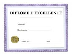 Certificats pour féliciter les élèves pour leur bon ...