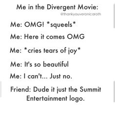 Lmfao. Anyone From The Divergent Fandom Wanna Come With Me?? We Can Cry Together omg every time