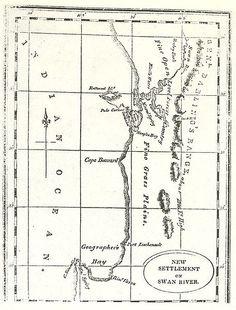 Early map of Swan River Colony, Western Australia Fete Ideas, Perth Western Australia, Old Signs, Teaching History, Historical Photos, Continents, Old Photos, Colonial, Westerns