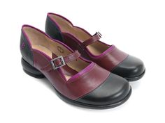 This cute and sleek maryjane style is a lean everyday casual shoe with contrasting F detail and ankle strap with a gunmetal buckle. Leather uppers, leather linings on a rubber signature Fellowship sole for comfort and durability. Old Friends are Good Friends.  Instagram @fluevog #vog_sandra