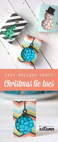 what a cute idea for gifts for the kids' friends or neighbors! Christmas tic tacs