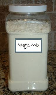 Magic Mix, this stuff is amazing, use 4 cups dry instant milk in milk not 2 1/3 cup. Just made the best alfredo ever using 2/3 cup magic mix, 1 cup water, 1 cup parm 1/2 tsp of garlic powder and 1/2 tsp of onion powder.