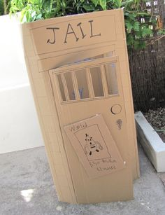 Cowboys; cardboard jail..ha!