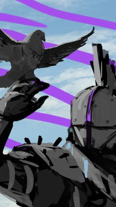 WIP - Suddenly, I really love this pigeon freak Destiny Comic, Love Destiny, Destiny Game, Anime Couples Manga, Cute Anime Couples, Anime Girls, Sistema Solar, Saint 14, Destiny Bungie