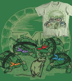 Estampa 'No-Mutant Ninja Turtles' no Camiseteria.com. Autoria de Vivi  http://cami.st/d/56884